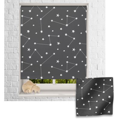 Dark Constellations roller blind includes a space themed roller blind perfect for decorating a children's room
