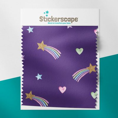 Purple Shooting Stars swatch for roller blind
