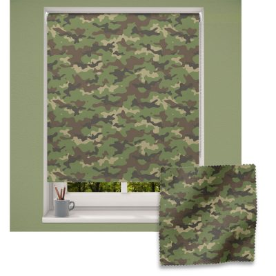 Green Camouflage roller blind includes a heart themed roller blind perfect for decorating a children's room