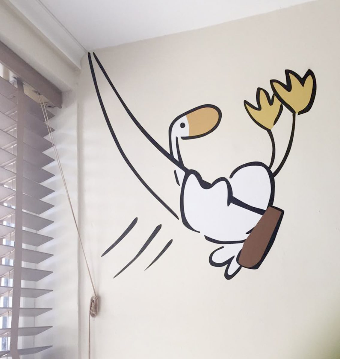 Goose on a swing wall sticker | Goose and Friends wall stickers | Stickerscape | UK