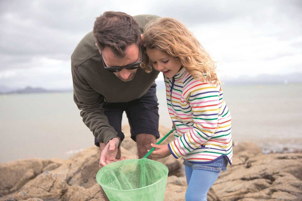 seaside visits at easter with children