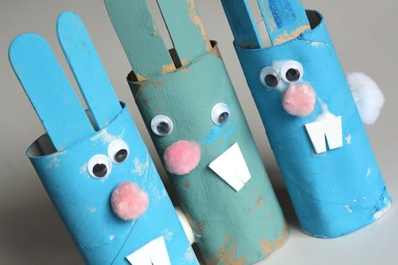 toilet rolls Easter bunnies perfect arts and craft easter activity for toddlers
