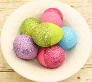 glitter easter eggs arts and crafts ideas for kids