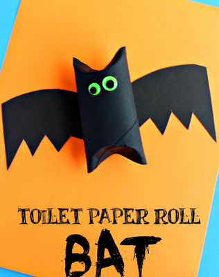Bat from toilet paper roll   Halloween craft ideas for kids   Blog   Stickerscape